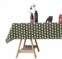 CHYOOO Tischdecken GrÜNer Elefantendruck