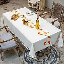 CHYOOO Tischdecken Tischdecke Aus Baumwolle Und