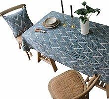 CHYOOO Tischdecken Wasserdichte Tischdecke Mit