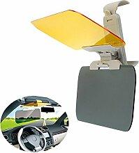 Chytaii Auto Blendschutz KFZ Sonnenschutz Frontscheibe Sichtschutz universal für Tag Nachtfahrten Gelb