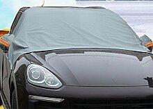 Chytaii KFZ Frontscheibe Sonnenblende Sonnenschutz Auto Winterabdeckung Eisschutz Schneeschutz universal für Auto Fahrzeuge 2.4*1.8*1.5M Grau