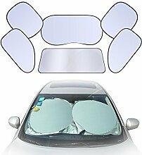 Chytaii verdickter Auto Sonnenschutz Leitblech Sonnenblendenanzüge Versilberung 6 Stücken