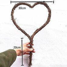 CHZIMADE 1 Stück natürliche Girlande in Herzform