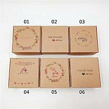 CHZIMADE 10 Stück Kraftpapier Süßigkeiten-Box