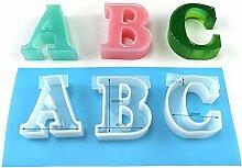 CHZIMADE Großes Alphabet Silikonform Alphabet