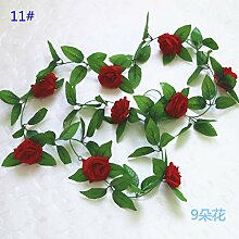CHZIMADE Künstliche Blumen Weinrebe Efeublatt