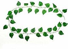 CHZIMADE Künstlicher Efeu, grüne