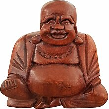 Ciffre Kleiner 10cm Happy Buddha Holz Lachende