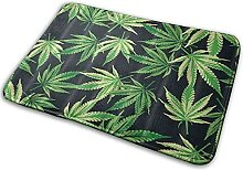 CIKYOWAY Badezimmermatte Pflanze Cannabis