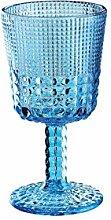 Cilio 290400 Weinglas, Glas, aquamarin, 8,5 x 8,5 x 16,2 cm