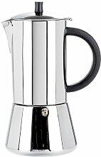 Cilio Figaro Espressokocher, Edelstahl, 10 Tassen