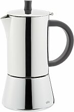 Cilio Figaro Espressokocher, Edelstahl, 4 Tassen