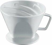 Cilio Kaffeefilter Vienna, Gr.4, Porzellan, weiß,