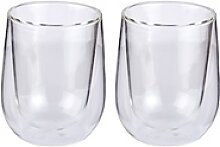 CILIO Milchkaffee-Glas VERONA 2er Set 250 ml