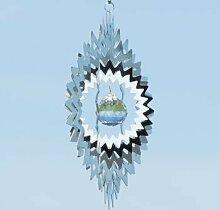 CIM Edelstahl Windspiel - Mirror Crystal Star -