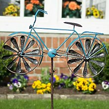 CIM Metall Windrad - Bicycle Blue - Wetterfest,