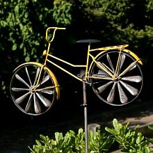 CIM Metall Windrad - Bicycle Yellow - Wetterfest,