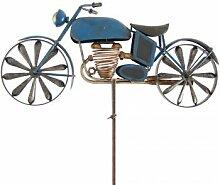 CIM Metall Windrad - Motorcycle Blue - Wetterfest,