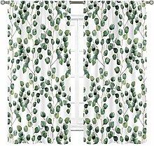 Cinbloo Grüne Blätter Vorhänge Stangentasche