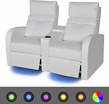 Cinema Sessel 2-Sitzer Sofa Kunstleder