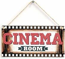 Cinema Zimmer - Film Movie Kino Plakat Rahmen Home Theater Schild. Geschenkidee für Vater, Kids, Man Cave, Den