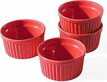 Cinf Auflaufförmchen aus Porzellan, Rot, 237 ml,