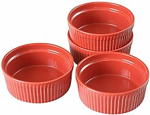 Cinf Auflaufförmchen aus Porzellan, Rot, 295 ml,