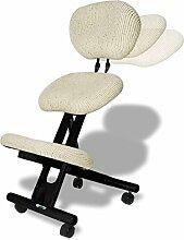 Cinius Ergonomischer Stuhl, Holz und Stoff,