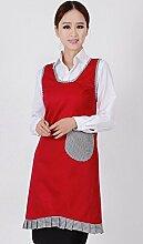 Cinny koreanische Version von der schönen Prinzessin Workwear Schürzen Großhandel Baumwoll Schürze Dekontamination Geräte