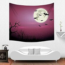 Circlefly Halloween Thema Tapestry Schlafzimmer