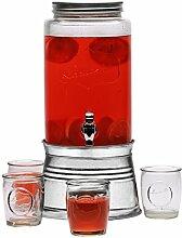 Circleware Lancaster Getränkespender aus Glas mit