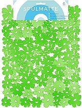 Circul Spülmatte 40 x 32 cm grün Blumenoptik