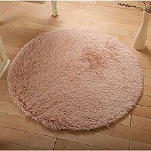 Circular Europäische Stil Teppich Wohnzimmer Couchtisch Teppich Schlafzimmer Bedside Computer Stuhl Yoga Fitness Teppich ( Farbe : B , größe : 160cm )