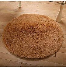 Circular Europäische Stil Teppich Wohnzimmer Couchtisch Teppich Schlafzimmer Bedside Computer Stuhl Yoga Fitness Teppich ( Farbe : E , größe : 140cm )