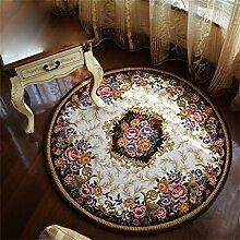 Circular Teppich Europäische Stil Kreative Mode Schlafzimmer Wohnzimmer Nachttisch Couchtisch Computer Stuhl Teppich Komfortable Soft Mat ( farbe : #3 , größe : Diameter 90cm )