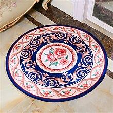 Circular Teppich Europäische Stil Kreative Mode Schlafzimmer Wohnzimmer Nachttisch Couchtisch Computer Stuhl Teppich Komfortable Soft Mat ( farbe : #1 , größe : Diameter 100cm )