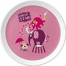Circus Star Clown Elefant pink Porzellan
