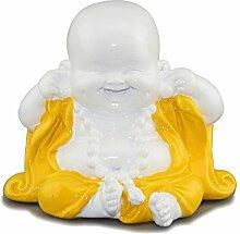CITONG Lachender Buddha Mönch Statue Decor Nicht