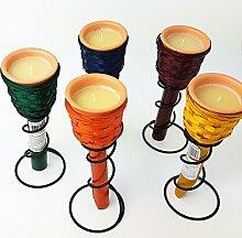 CITRONELLA 4 Stück Kerzen mit Terracotta Topf und