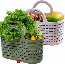 Citylife 2 Stück Kunststoffsieb Gartenkorb mit