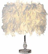 CivilWeaEU- Moderne einfache Feder-Lampe Schlafzimmer-Bett-warme Tabellen-Lampe Hochzeits-Geburtstag-Geschenk-Ideen