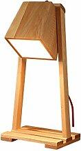 CJ - Nordic Massivholz Schreibtischlampe Holz kreative Tischlampe Schlafzimmer Schlafzimmer Bett Lampe Paket Management Holz Tischlampe