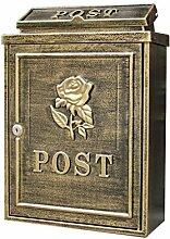 CJH Anti-alte Rosen Europäischen Villa Mailbox Outdoor Mailbox Post Regen Große Garten Wand Wasserdichte Kreative Briefkasten