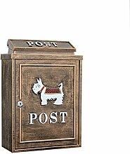 CJH Anti Gu Xue Na Rui Welpen Continental Villa Mailbox Im Freien Mail Box Regensicher Große Gartenwand Wasserdichte Kreative Briefkasten