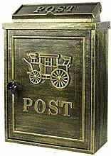 CJH Anti-Gujin Kutsche Europäischen Villa Mailbox Outdoor Mailbox Post Regen Große Garten Wand Wasserdichte Kreative Briefkasten