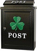 CJH Clover Europäischen Villa Mailbox Im Freien Mail Post Regen Große Große Gartenwand Wasserdichte Kreative Briefkasten Schwarz