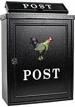 CJH Cock Europäischen Villa Mailbox Outdoor Mailbox Post Regen Große Gartenwand Wasserdichte Kreative Briefkasten