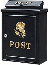 CJH Gold Rose Europäischen Villa Mailbox Im Freien Post Post Regen Große Große Garten Wand Wasserdichte Kreative Briefkasten