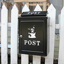 CJH Husky Europäischen Villa Mailbox Outdoor Mail Post Regen Große Große Gartenwand Wasserdichte Kreative Briefkasten schwarz