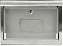CJH Mode Europäischen Villa Regen Wand Post 304 Edelstahl Mailbox Glaspost Outdoor